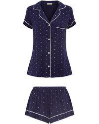Eberjey - Pyjama Shirt And Shorts Set - Lyst