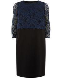 Elena Miro - Lace Overlay Dress - Lyst