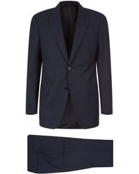 Emporio Armani | Wool Pine Stripe Two-piece Suit | Lyst
