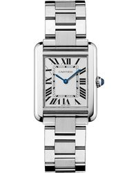 Cartier - Small Stainless Steel Tank Solo Watch 24mm - Lyst