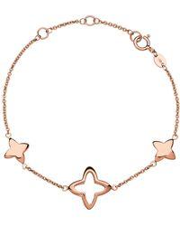Links of London - Rose Gold Splendour Cut-out Star Bracelet - Lyst