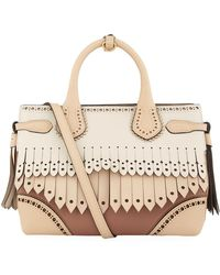 Burberry - Small Fringed Banner Tote Bag - Lyst