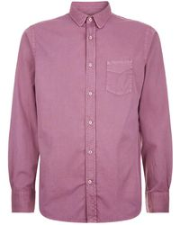 Officine Generale - Long Sleeve Button Shirt - Lyst