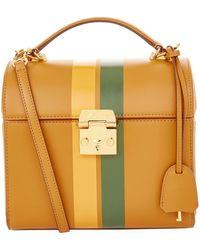 Mark Cross - Leather Sara Striped Shoulder Bag - Lyst