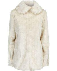 Ted Baker   Ollen Faux Fur Coat, Cream, 1   Lyst