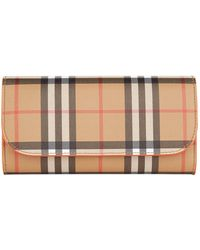Burberry - Halton House Check Wallet - Lyst
