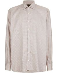 James Purdey & Sons - Tattersall Check Print Shirt, Red, Uk 18.5 - Lyst