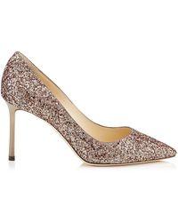 Jimmy Choo - Romy Coarse Glitter Court Shoes 85 - Lyst