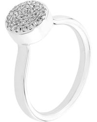 Monica Vinader - Ava Diamond Button Ring - Lyst