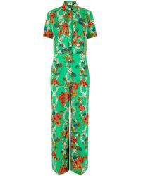 Sandro - Floral Print Jumpsuit - Lyst