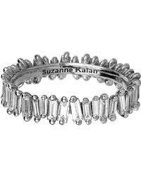 Suzanne Kalan - White Gold Baguette Diamond Ring - Lyst