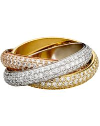 Cartier - Trinity De Pav Diamond Ring - Lyst