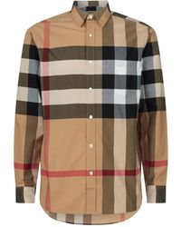 Burberry - Windsor Oversized Check Cotton Blend Shirt - Lyst