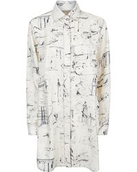 Burberry - Landmark Print Silk Shirt - Lyst