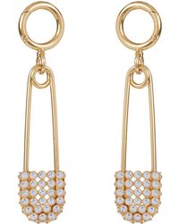 Burberry - Crystal And Bronze Kilt Pin - Lyst