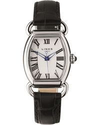 Links of London - Stainless Steel Driver Ellipse Watch, Black - Lyst