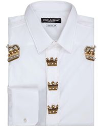 Dolce & Gabbana - Crown Embellished Shirt - Lyst