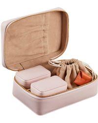 Stow - Amelia 3-piece Leather Jewellery Case - Lyst
