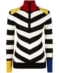Rossignol - Striped Half-zip Sweater - Lyst