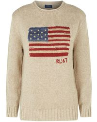 Polo Ralph Lauren - Knitted Flag Sweater - Lyst