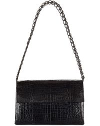 Nancy Gonzalez - Medium Crocodile Double Chain Shoulder Bag - Lyst