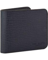Ted Baker - Astridd Palmelato Bi-fold Wallet, Navy - Lyst