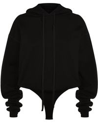 Unravel - Open Back Hoodie Bodysuit - Lyst