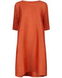 Pleats Please Issey Miyake - Asymmetric Midi Dress - Lyst