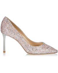 Jimmy Choo - Romy 85 Glitter Court Shoes - Lyst