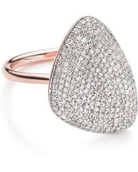 Monica Vinader - Nura Teardrop Diamond Ring - Lyst