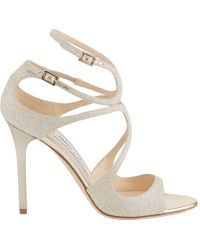 Jimmy Choo - Lang Double Buckle Sandals - Lyst