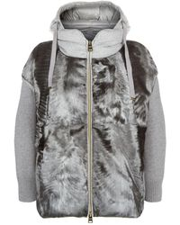 Herno - Padded Fur Jacket - Lyst