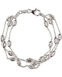 Links of London - Essentials Beaded 3 Row Bracelet - Lyst