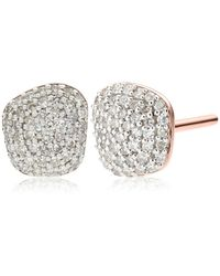 Monica Vinader - Nura Nugget Stud Earrings - Lyst
