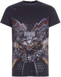 Balmain - Distressed Printed T-shirt - Lyst