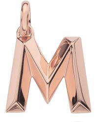 Monica Vinader - Rose Gold Capital M Pendant - Lyst