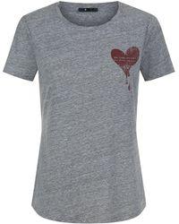 PAIGE - Bexley Heart Print T-shirt - Lyst