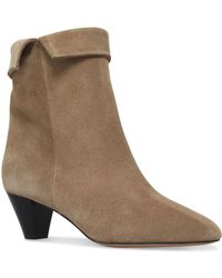 Isabel Marant - Suede Dyna Ankle Boots 50 - Lyst