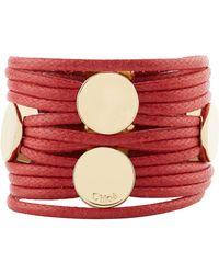 Chloé - Leather Multi-strand Bracelet - Lyst