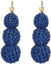 Lucy Folk - Crochet Ball Drop Earrings - Lyst