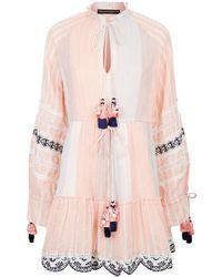 Hemant & Nandita - Short Dress With Tassels - Lyst