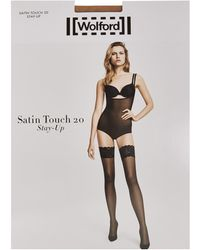 Wolford - Satin Touch 20 Stay Ups - Lyst