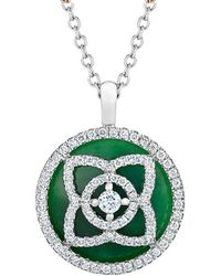 De Beers - White Gold And Jade Enchanted Lotus Pendant - Lyst