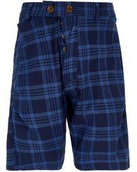 Vivienne Westwood - Tartan Alcoholic Cotton Shorts - Lyst