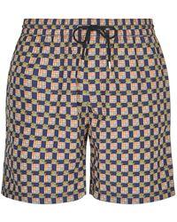 Burberry - Check Swim Shorts - Lyst