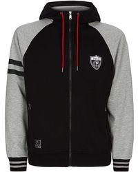 b29e84d84 Lyst - Polo Ralph Lauren Zip Through Tech Fleece Hooded Top in Black ...