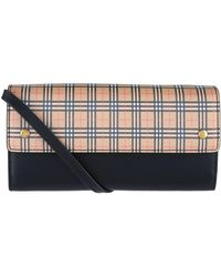 Burberry - Small Scale Check Wallet With Detachable Strap - Lyst
