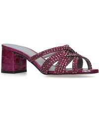 Gina - Embellished Dexie Mules 50 - Lyst