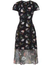 Markus Lupfer - Utopia Silk Midi Dress - Lyst