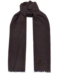 Corneliani - Pinstripe Silk And Cashmere Scarf - Lyst